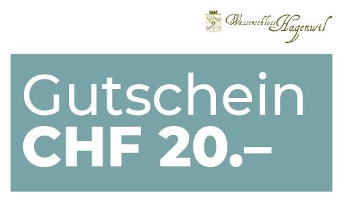 Gutschein CHF 20.– per Post