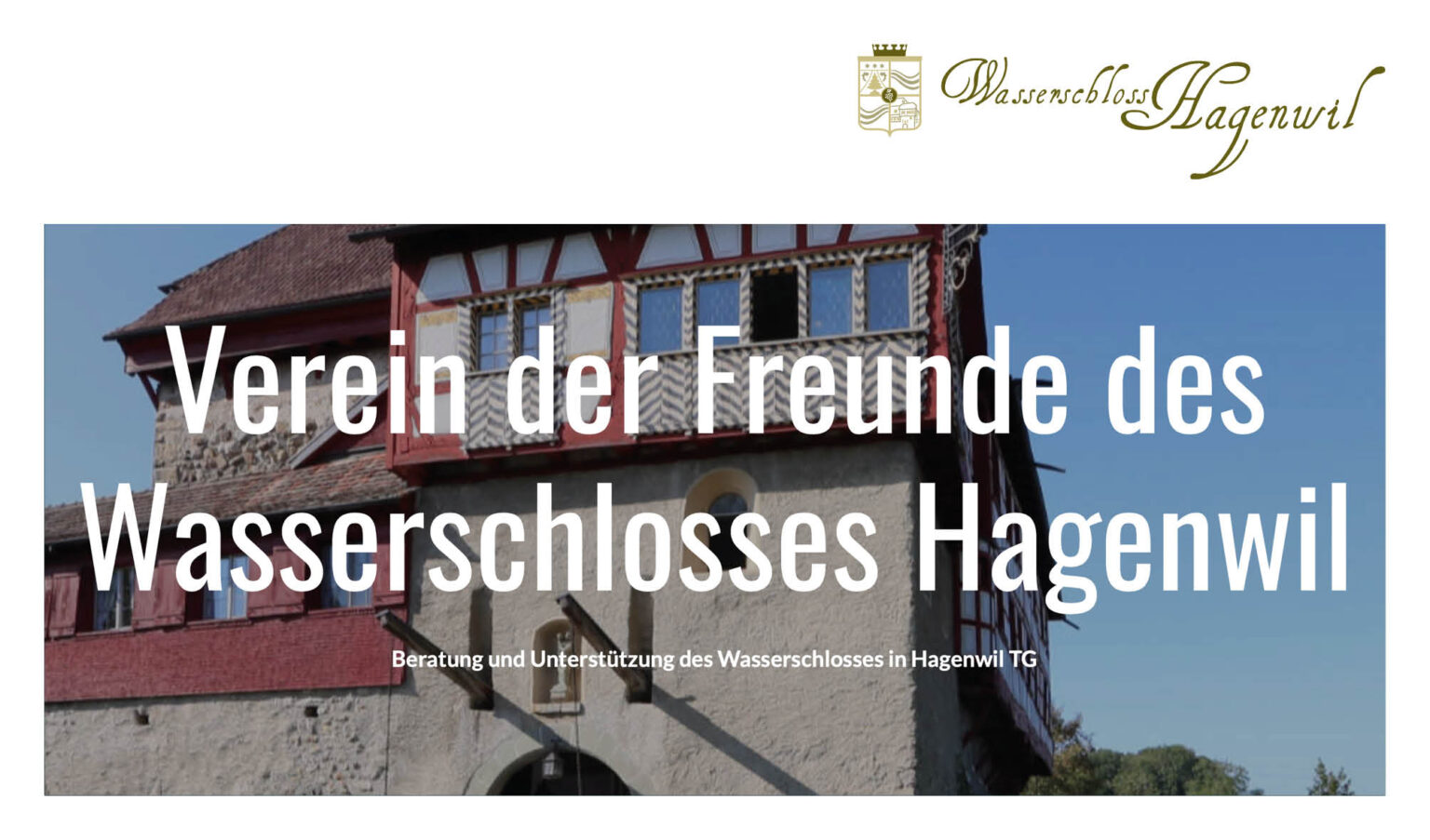 Spende «Verein Freunde Wasserschloss Hagenwil»