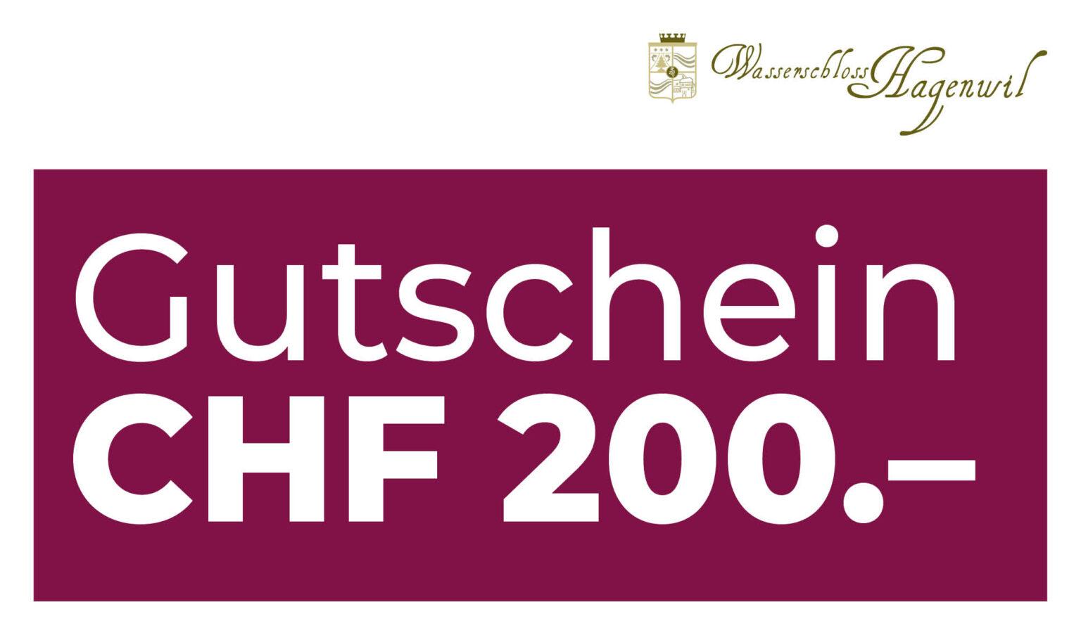 Gutschein CHF 200.– per Post